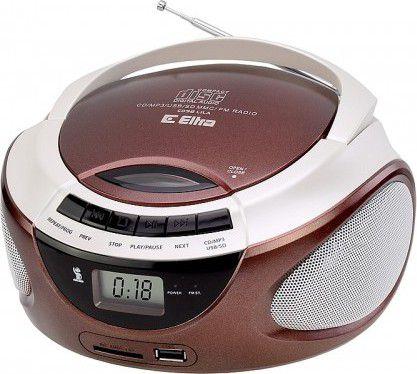 Eltra CD Player with radio LILA CD-98/USB brown magnetola