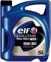 Olej silnikowy Elf OLEJ ELF 5W30 5L EVOLUTION FULL TECH MSX / 502.00 505.00 505.01 / 229.51 / LL04 / DEXOS 2 5W30 EVO FT MSX 5L motoreļļa
