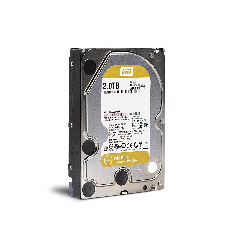 WESTERN DIGITAL   Gold   2TB   SATA 3.0   128 MB   7200 rpm   3,5