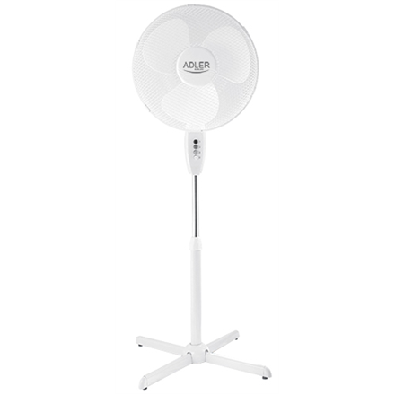 Adler AD 7305 Stand Fan, Number of speeds 3, 90 W, Oscillation, Diameter 40 cm, White Klimata iekārta