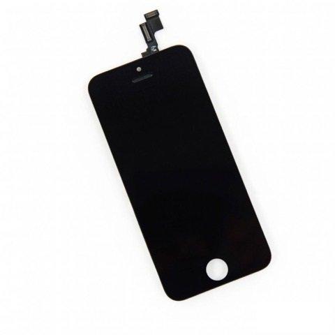 HQ AAA+ Analogs LCD Skarienjūtīgais Displejs priekš Apple iPhone SE Pilns modulis Melns aksesuārs mobilajiem telefoniem