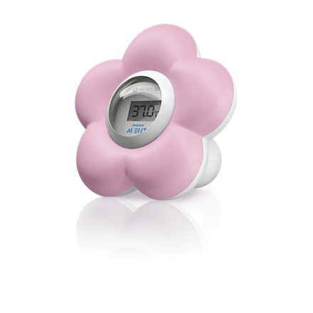 Philips Bath and Room Thermometer  Pink flower Avent SCH550/21 aksesuāri bērniem