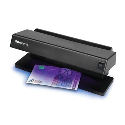 SAFESCAN 45 UV Counterfeit detector Black, Suitable for Banknotes, ID documents, Number of detection points 1 250-03100