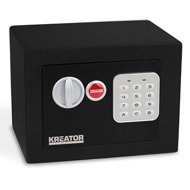 Kreator Elektroniskais seifs ar atslēgu 170x230x170mm