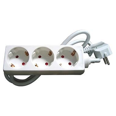 KS Pagarinātājs 1.5m 3 vietīgs A/Z elektrības pagarinātājs