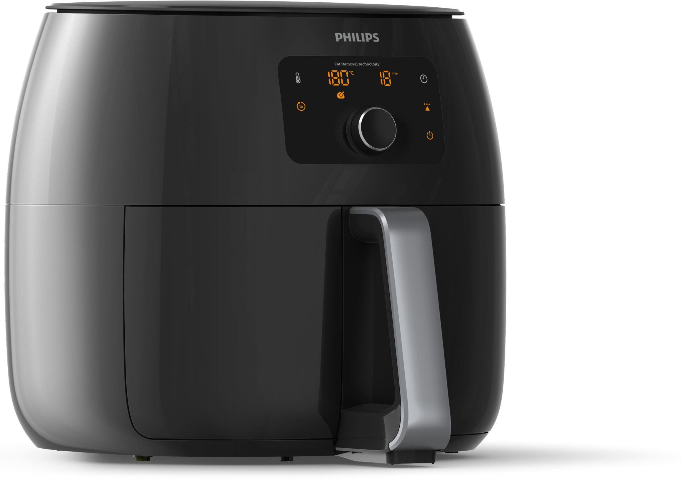 Philips Premium Airfryer XXL HD9650/90 Power 2225 W, Capacity 7.3 L, Degreasing technology, Black ritēšanas iekārtas (Taukvāres katls)