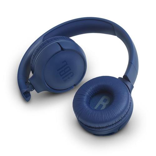 JBL on-ear austiņas ar Bluetooth, zilas JBLT500BTBLU austiņas