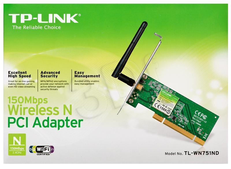 TP-LINK TL-WN751ND tīkla karte