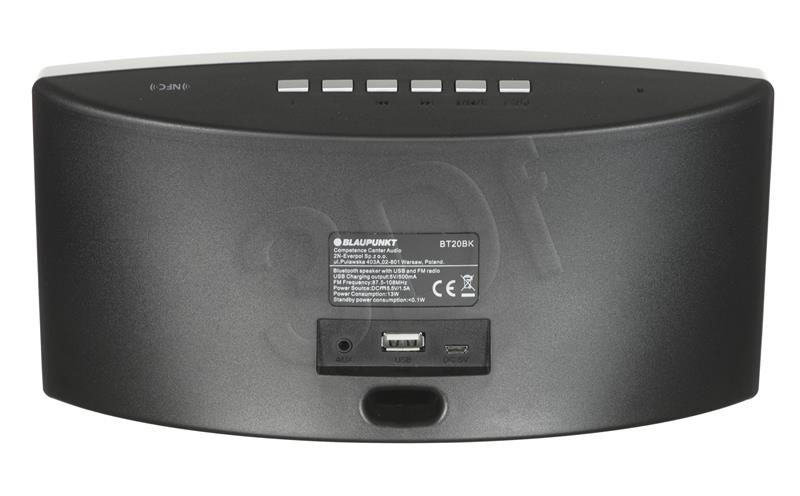 blaupunkt Portable bluetooth speaker BT20BK, FM PLL/USB/AUX, PowerBank, black pārnēsājamais skaļrunis