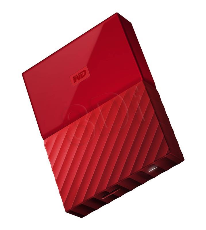 Western Digital My Passport 4TB red HDD USB 3.0 Ārējais cietais disks