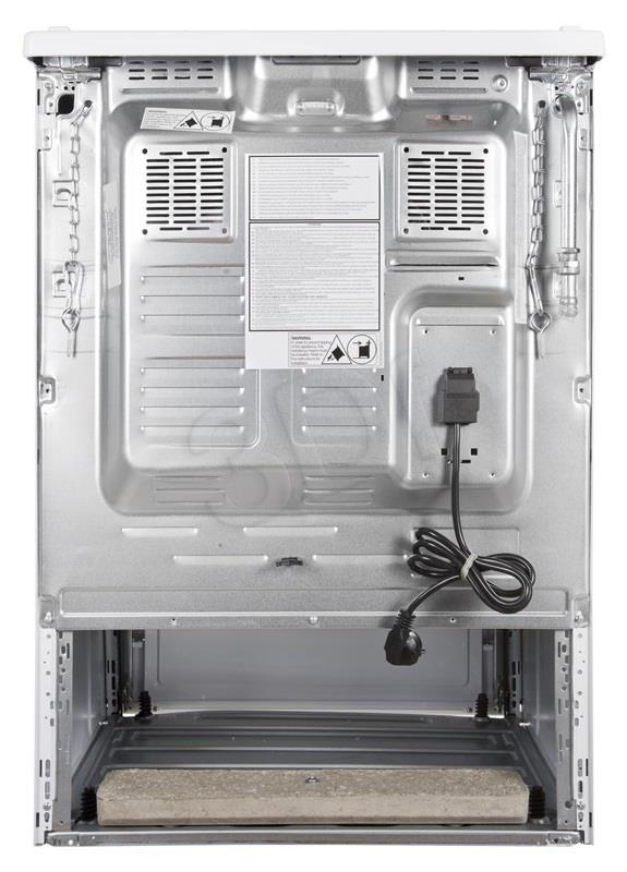 Kuchnia Beko FSE62120DW (Pyta Gazowa Piekarnik Elektryczny szer. 600mm Biay) ritēšanas iekārtas (Taukvāres katls)
