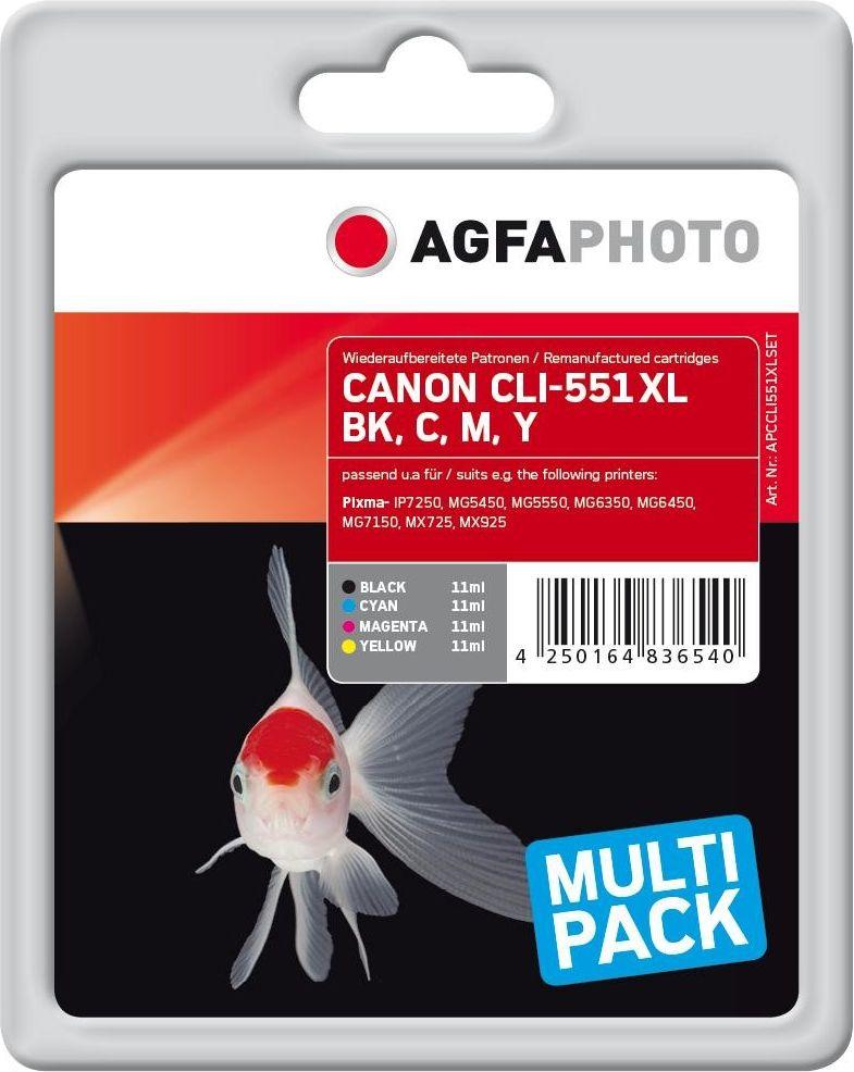 AgfaPhoto Ink B/C/M/Y 4x11 ml.   4250164836540