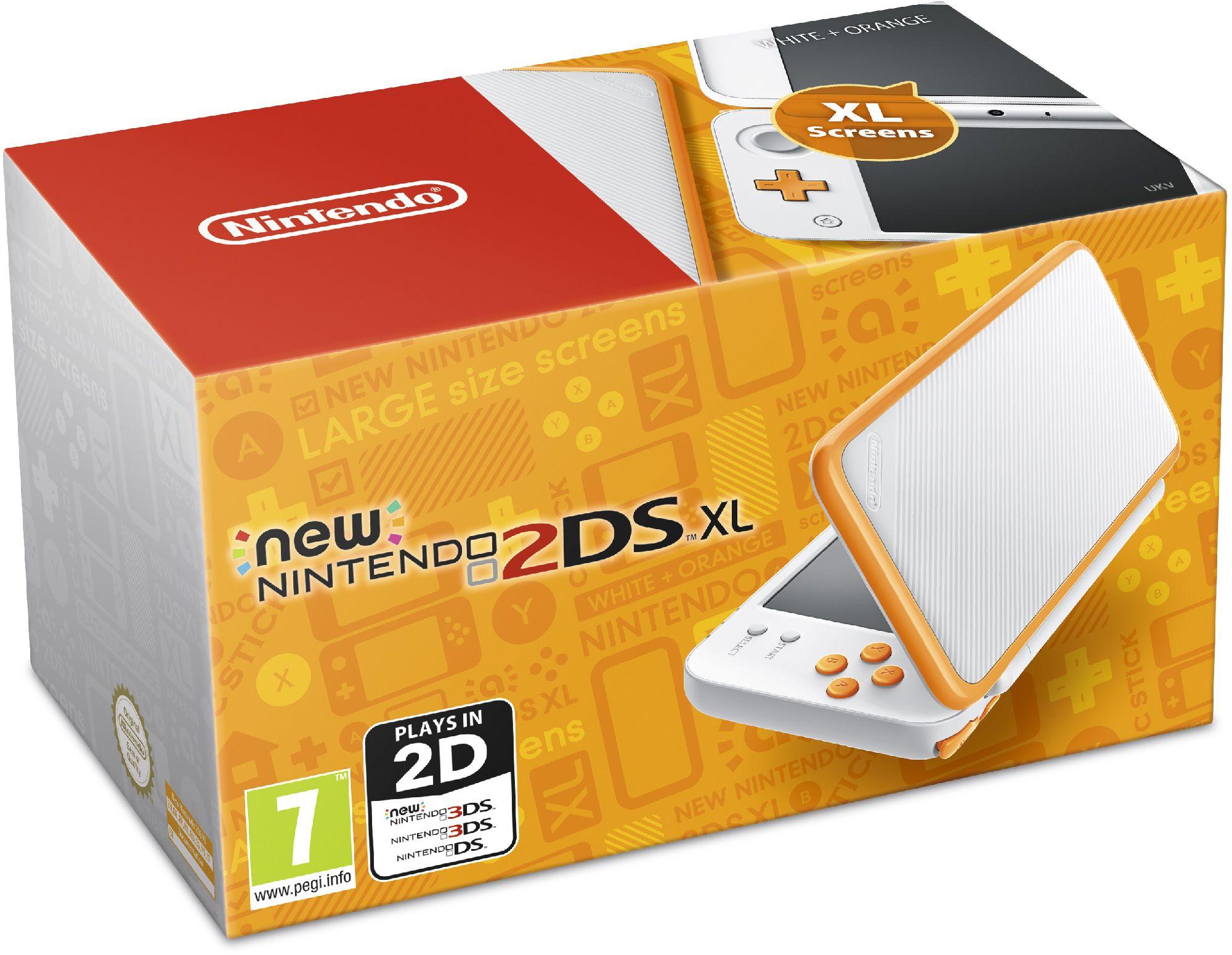 Konsole Nintendo New 2DS XL white-pomaranczowa (NI3H97212) spēļu konsole