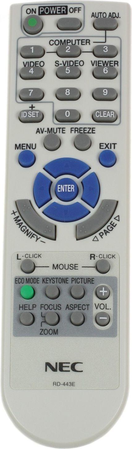 NEC Remote-C RD-443E VT580G/480/58 VT580G/480/58/48/49 pults