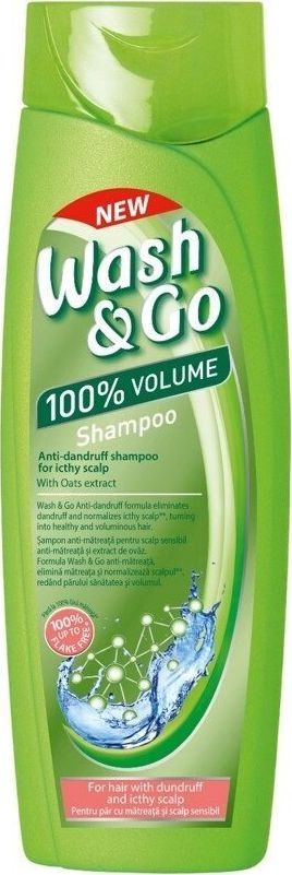 Wash & Go Anti-dandruff shampoo for sensitive scalp 400 ml Matu šampūns
