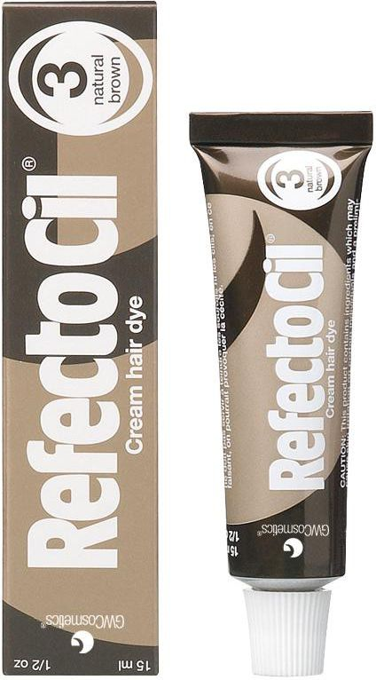 RefectoCil Eyelash And Eyebrow Tint henna for eyebrows and eyelashes 3 Natural Brown 15ml ēnas
