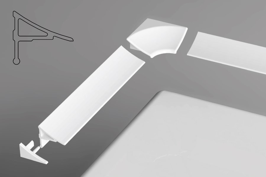 RAVAK Cover strip for a shower tray Type 11 200 cm white (XB462000001)