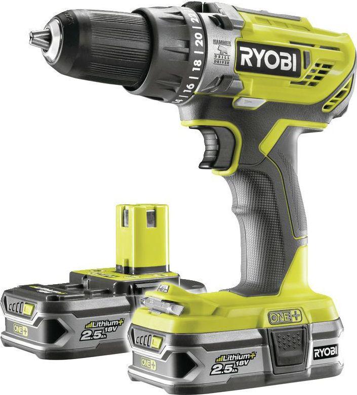 Ryobi 18V 50Nm 2x2,5Ah R18PD3-225S RY5133003345