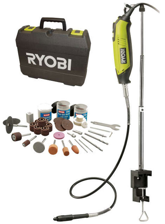Ryobi EHT150V Rotary Tool with 115 Accessories Elektroinstruments