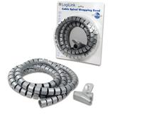 Kabelspiralschlauch Logilink grau 2,5m