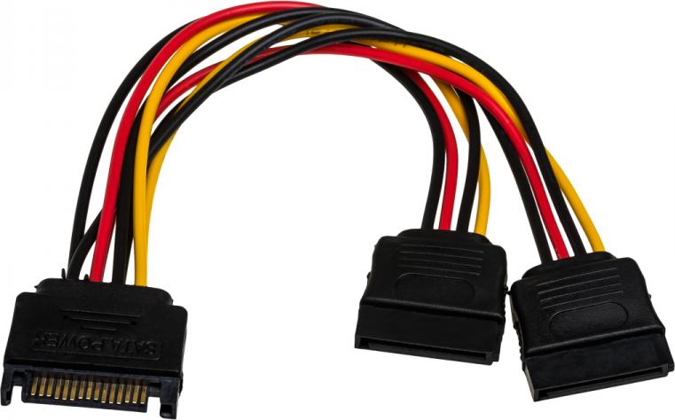 Akyga AK-CA-31 (SATA - SATA x 2 ; 0,15 m; multicolour) kabelis datoram