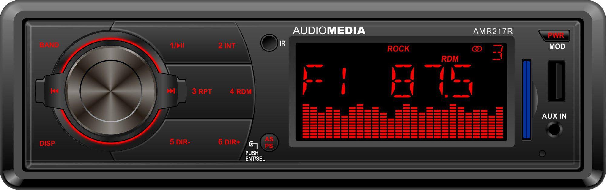 AudioMedia AMR27R  FM SD USB 2x20WATT RC automagnetola
