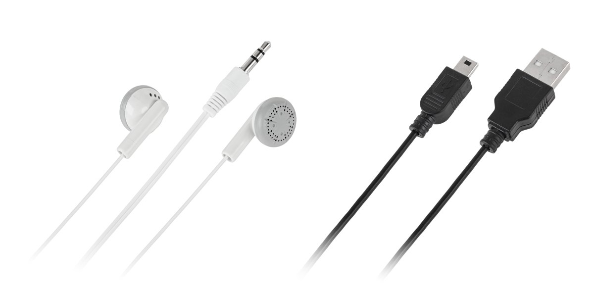 Quer MP3 player with card reader- black MP3 atskaņotājs
