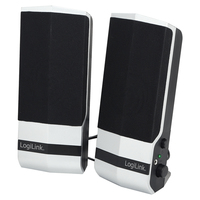 LOGILINK - Active Speaker 2.0 Stereo, Black/Silver datoru skaļruņi