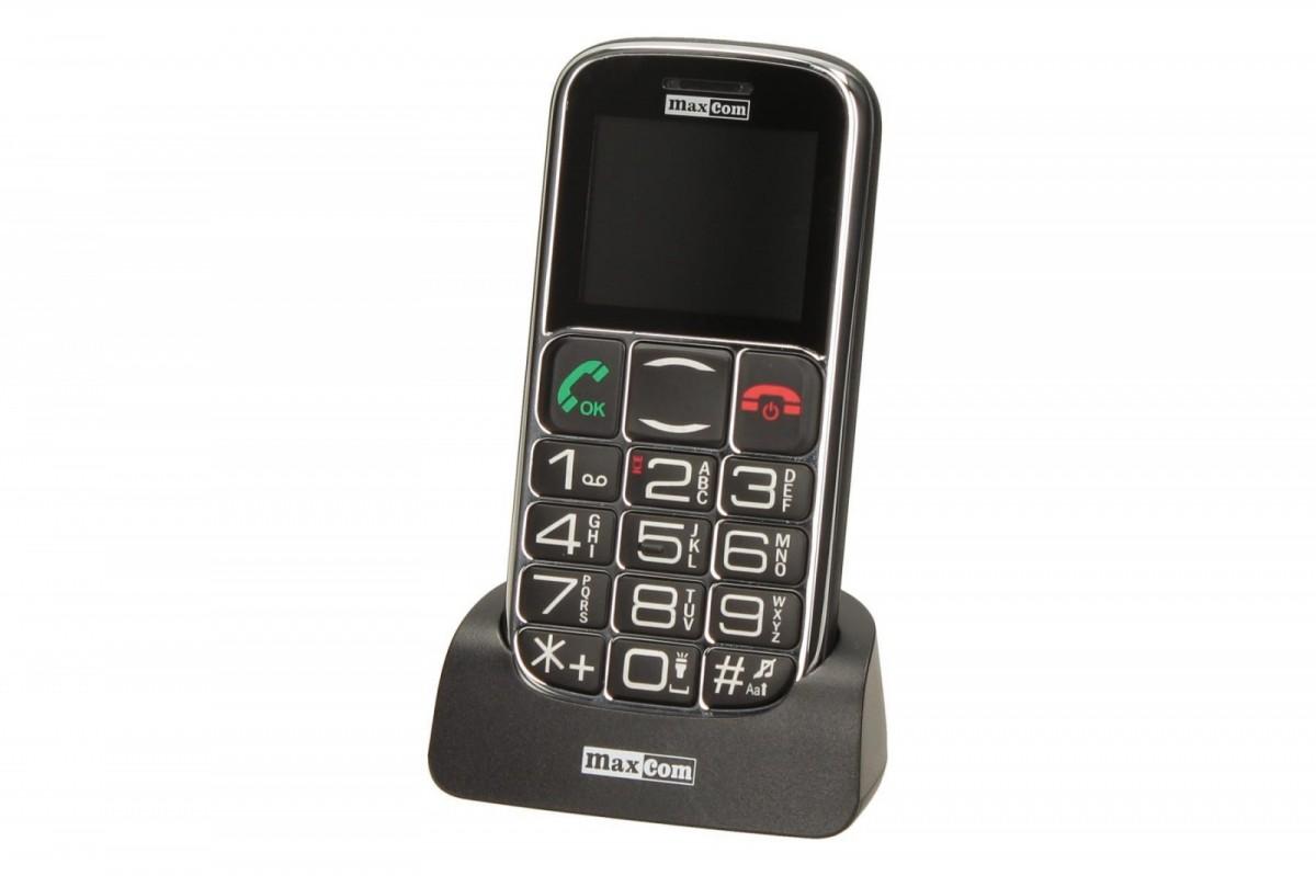 MaxCom MM461BB, Senior Phone GSM - Black Mobilais Telefons