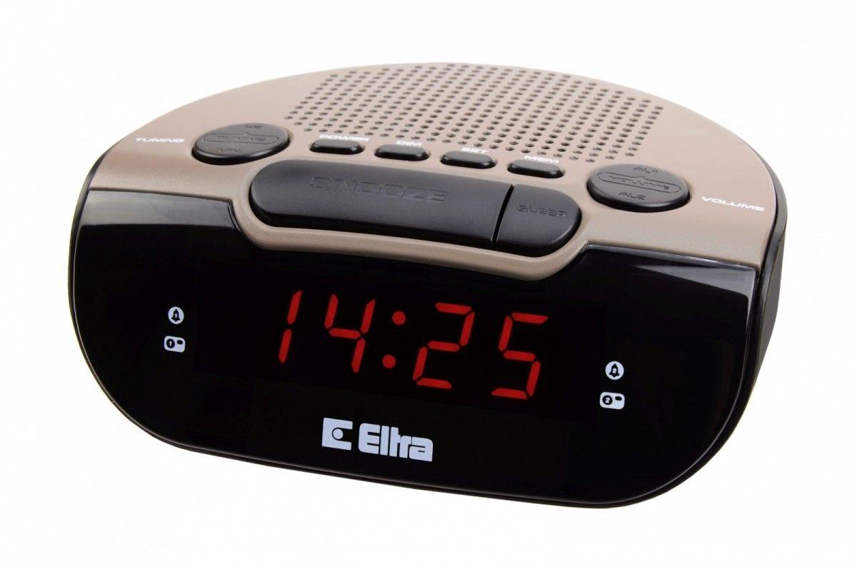 ELTRA Radiobudzik  ZEBU 06PLL Black/Khaki radio, radiopulksteņi