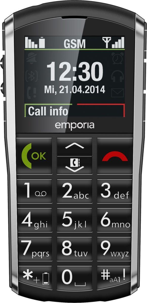 EMPORIA PURE            V25 BLACK Mobilais Telefons