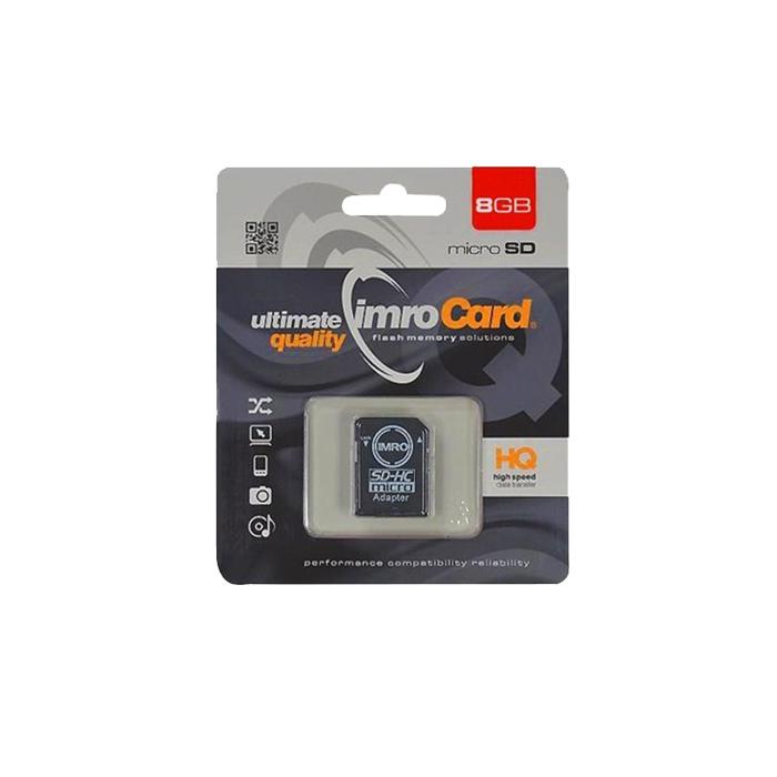 atmiņas karte Imro atmiņas karte IMRO microSD 8GB klasa 10 z adapterem - KOM000654