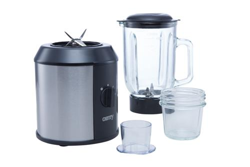 Camry Black/Stainless steel, 1500 W, Glass, 1.3 L, Ice crushing, Mill Blenderis