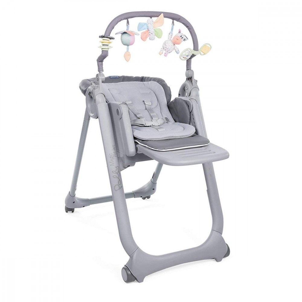 Chair Polly Magic Relax 4K Graphite bērnu barošanas krēsls