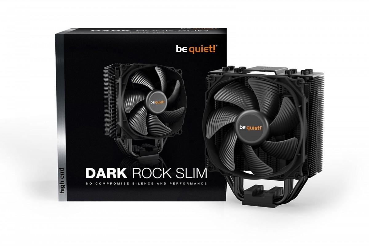 be quiet! CPU cooler Dark Rock Slim 1150/1151/1155/1156/1366/2011/AM2/AM3/AM4 procesora dzesētājs, ventilators
