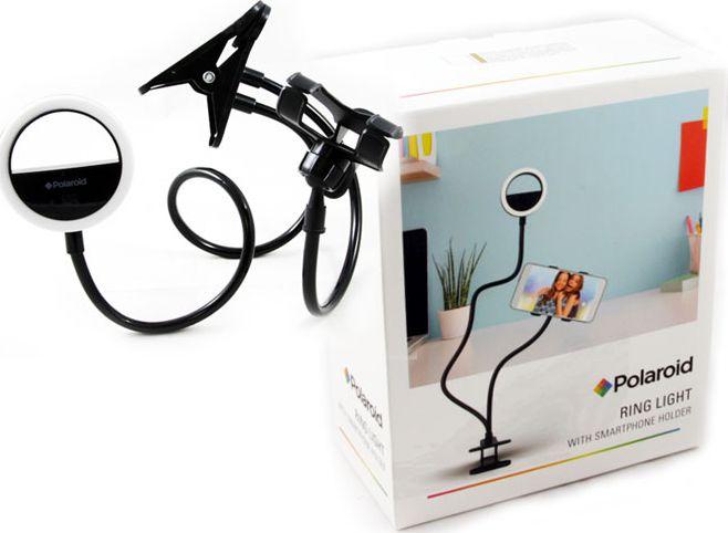 Polaroid Tripod Flexible Holder + Led Lamp For Smartphone SB5721 statīvs