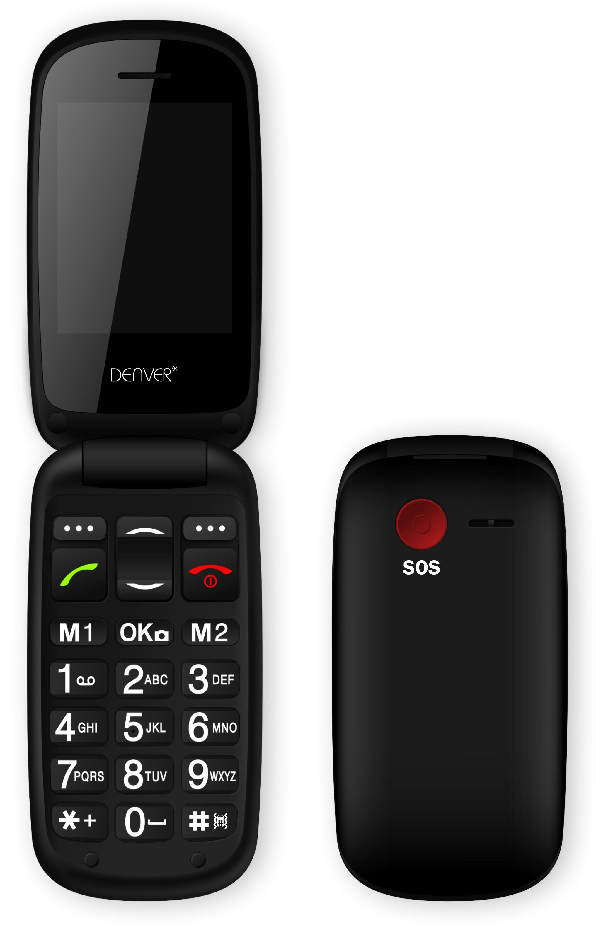 Denver GSP-130 black ENG Mobilais Telefons