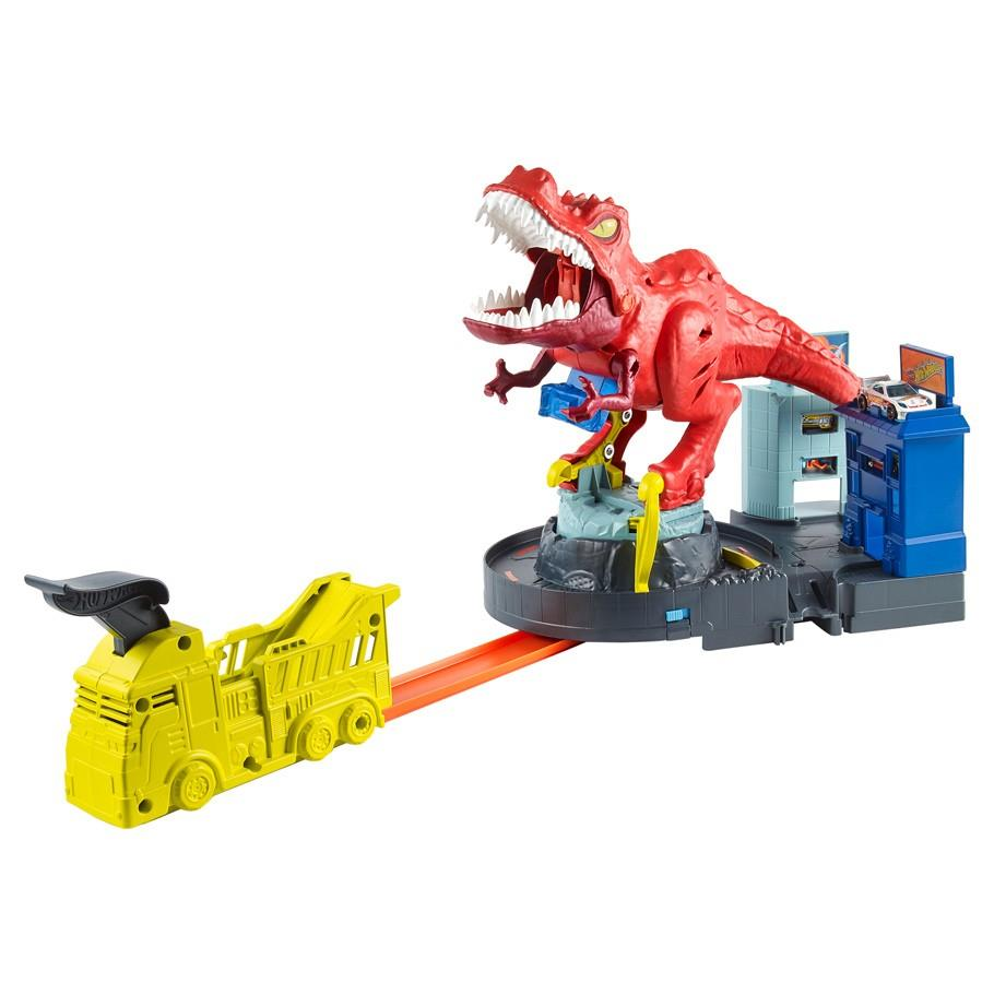 Hot Wheels Car track T-Rex Rampage Play Set