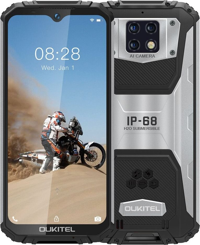 Smartfon Oukitel WP6lite 128 GB Dual SIM Czarno-srebrny  (WP6lite-BK/OL                  ) WP6lite-BK/OL Mobilais Telefons