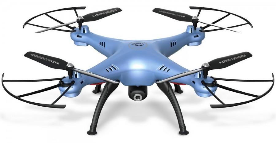 Syma X5HW (0.3MP FPV camera, 2.4GHz, hover mode, range to 50m) - Blue Droni un rezerves daļas