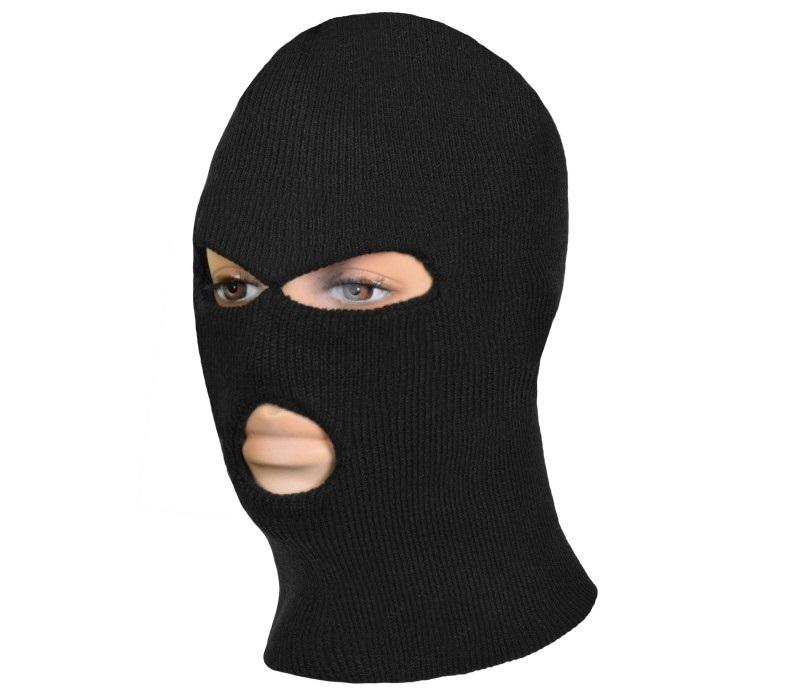 Art.Master Cepure-maska Balaklava 3 caur. melna