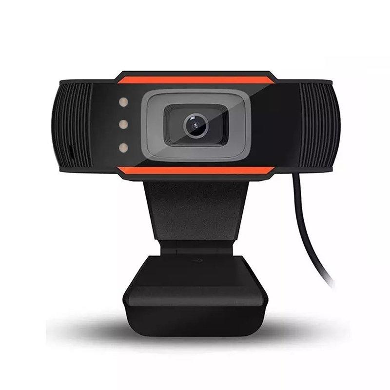 RoGer A7 Web Kamera HD 720P ar Mikrofonu Melna web kamera