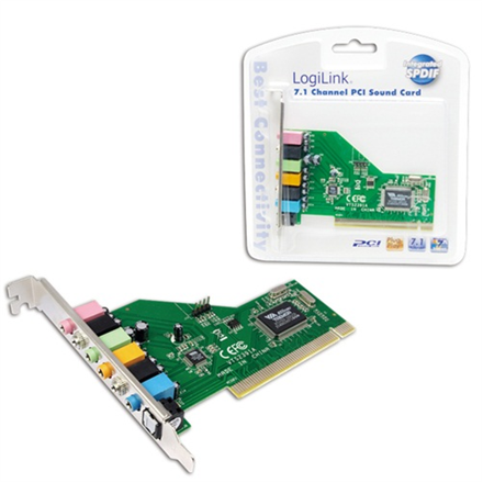 Logilink PCI Card Sound 7.1 Card 8 channels , VT1723 chipset skaņas karte