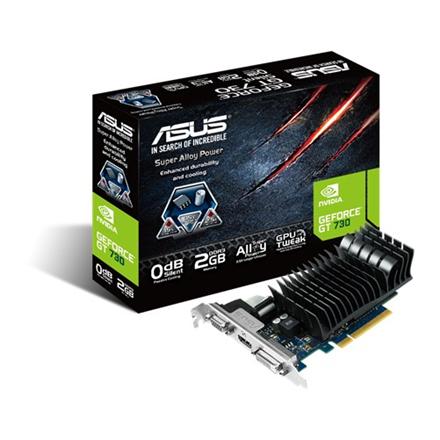 Asus NVIDIA GeForce GT 730 VGA PCIE16 GT730 2GB GDDR3 video karte