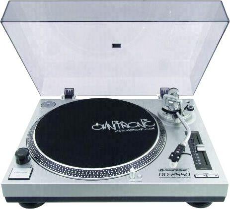 Omnitronic DD-2550 silver radio, radiopulksteņi