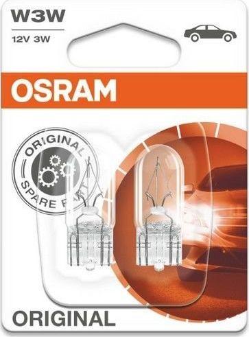 Osram W3W STANDARD 12V 3W W2.1x9.5d (Blister 2ks) auto spuldze