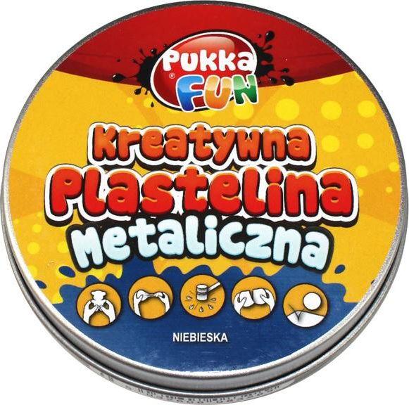 Pukka Creative plasticine - Metallic blue - 217389 materiāli konstruktoriem