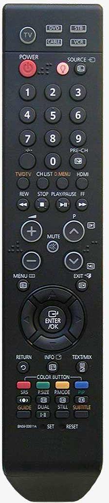 HQ LXP502 TV pults SAMSUNG BN59-00611A Melns pults