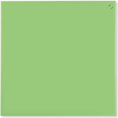 NAGA Magnetic glass board 45x45 cm light green