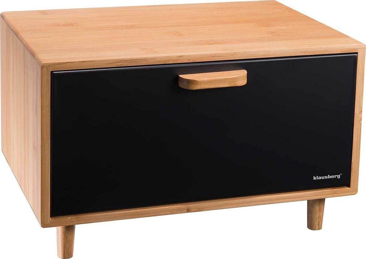Klausberg bamboo-steel bread box (KB-7399) Pārtikas uzglabāšanas piederumi